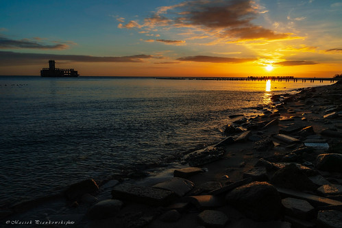 babiedołytorpedownia zima winter sunrise balticsea sky photoshoot gdynia landscape nature