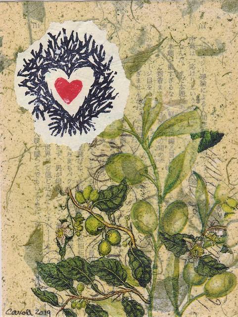 Valentine's collage card