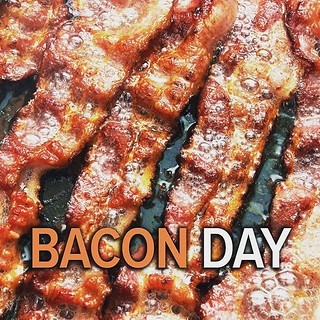 Who doesn't love BACON? It makes everything tastes better.  Happy #nationalbaconday | by BitesnBuzz