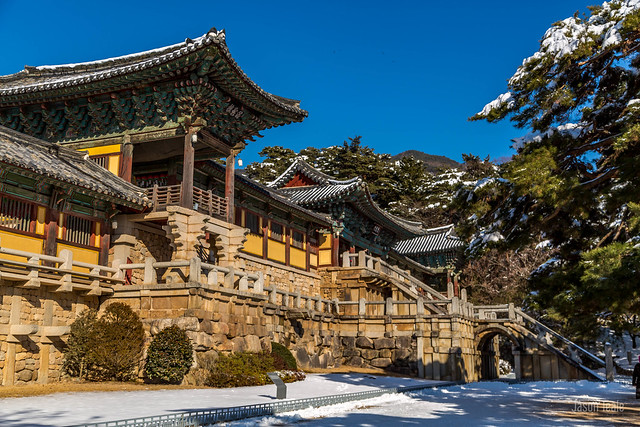 Bulguksa Temple in the Snow