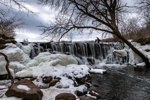 tamron1530mm usa winter landscape waterfall nikond850 nature water whitnallparkwaterfall whitnallpark halescorners unitedstates 2019 march wisconsin franklin unitedstatesofamerica us
