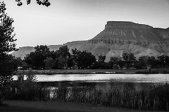 Mount Garfield  and Airstream Trailer - Palisade, Colorado