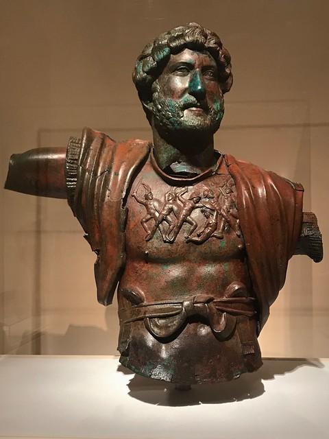 Head and Torso of Hadrian, Bronze, 2nd Century AD