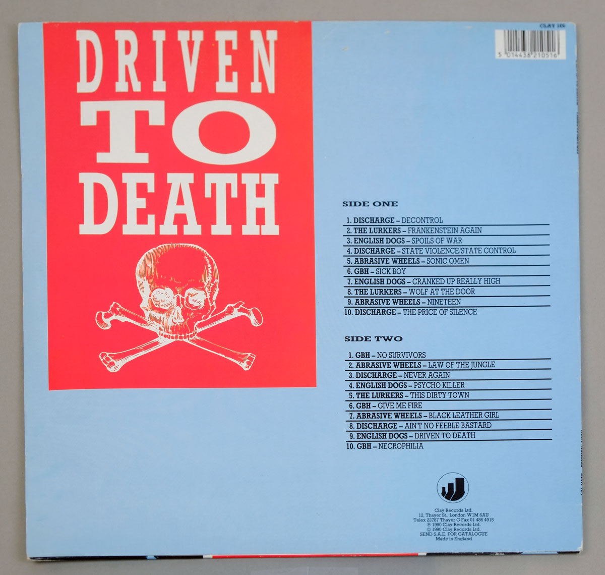 "VARIOUS VA - Driven to Death NM/MINT 12"" LP"