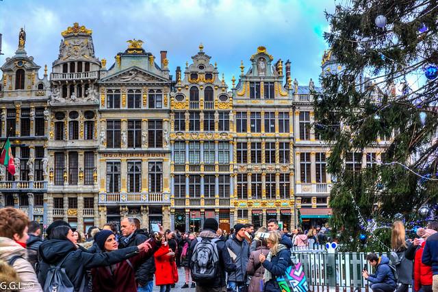Grote Markt. Brussel. Nog een dag toeristen.