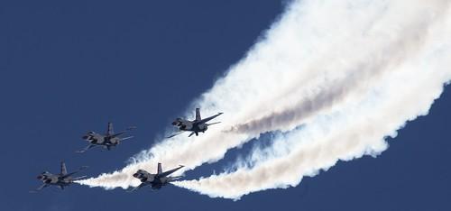 USAF F-16 FIGHTING FALCON Thunderbird Team at Davis Monthan AFB (SMA/KDMA) 2019