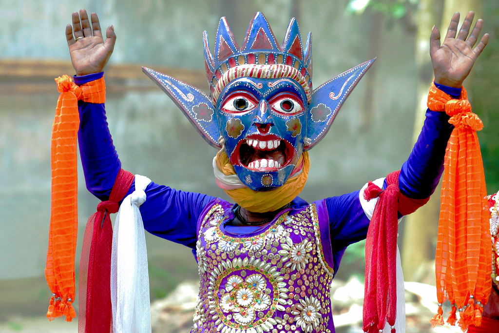 Gomira Mask Dancers of Bengal | Situated amidst the calming … | Flickr