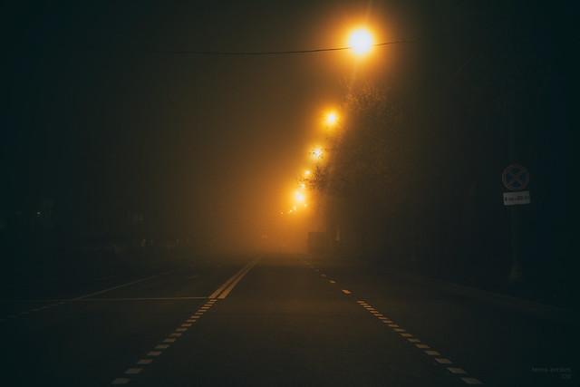 Night Crossroad in the Nowhereland