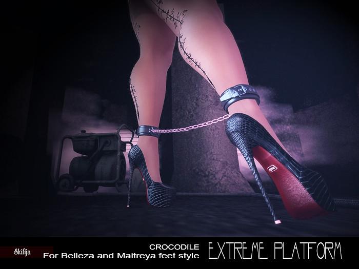 -SKIFIJA- Extreme Platform(Crocodile Black) Belleza, Maitreya - TeleportHub.com Live!