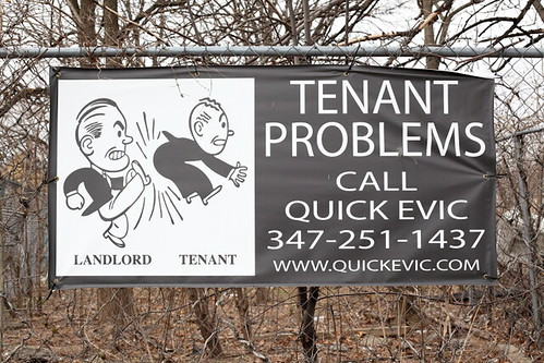 Tenant problems, call Quick Evic, seen in Canarsie, Brooklyn