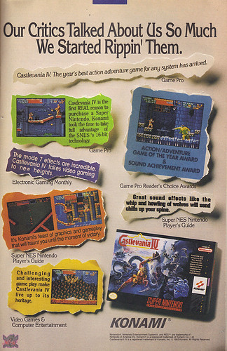 """KONAMI:: SUPER CASTLEVANIA IV - """"Our Critics Talked About Us So Much - """" (( 1992 )) 