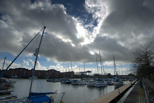 Clouds over Preston Marina   by Tony Worrall