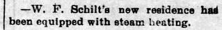1896 - Schilt installs steam heat - Enquirer - 28 Aug 1896 | by historic.bremen