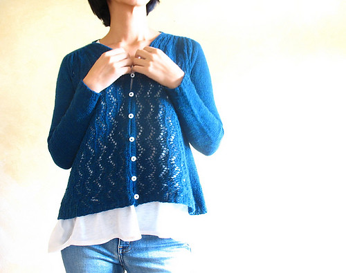 Ivy Line by Yoko Johnston is my favourite kind of cardigan - a-line and lacy!