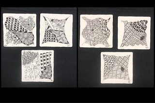 "Beautiful tiles from tonight's ""Introduction to Zentangle"" class at @walkervilleartistscoop. Lots of fun! #zentangle #tangle #tangling #czt #laurelstoreyczt #art #classes #artclass #artclasses #draw #drawing #windsor #ontario #yqg #wetangle #windsoressext | by Laurel Storey, CZT"