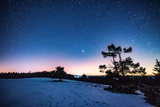 lunar eclipse and starry sky at the Raßberg