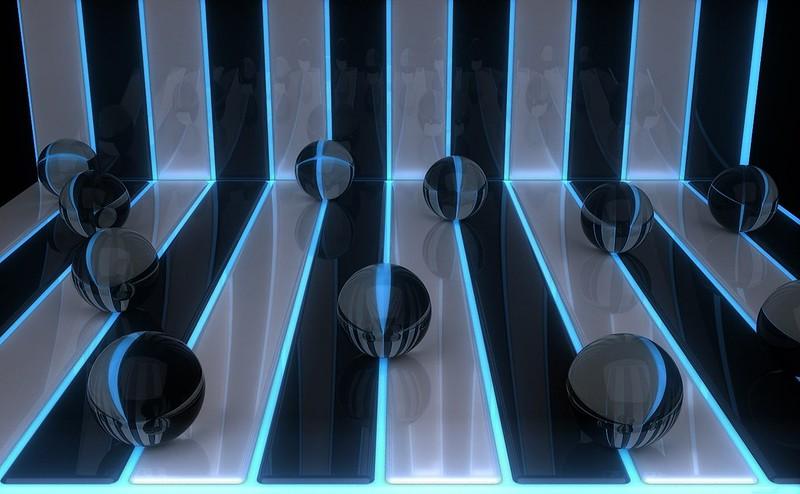 Обои шары, линии, фон картинки на рабочий стол, фото скачать бесплатно