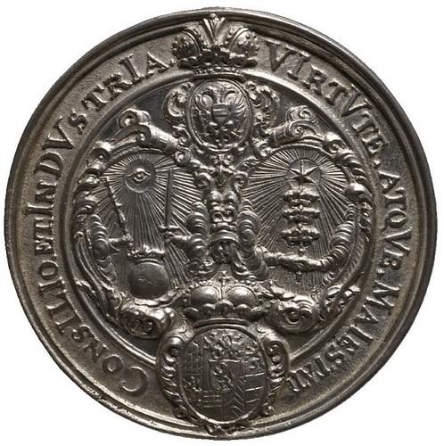 Chronogram Wedding Medal reverse | by Numismatic Bibliomania Society