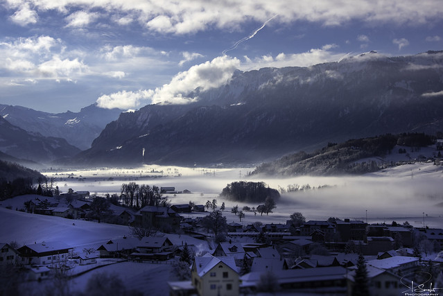Winter view from Kaltbrunn - Switzerland