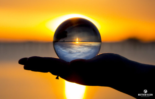 messickpoint poquoson lensball sunset virginia outdoors skyline