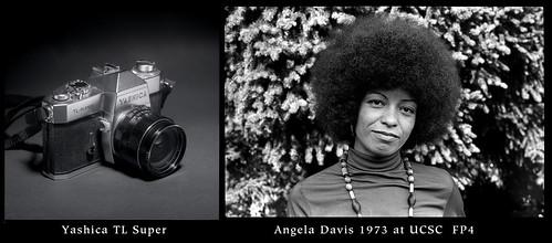 Yashica TLSuper and Angela Davis from 1973