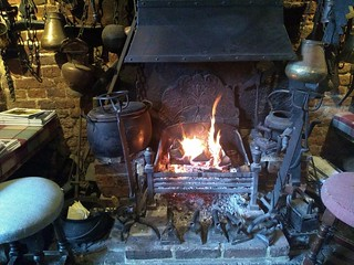 Welcome fire at The Crown