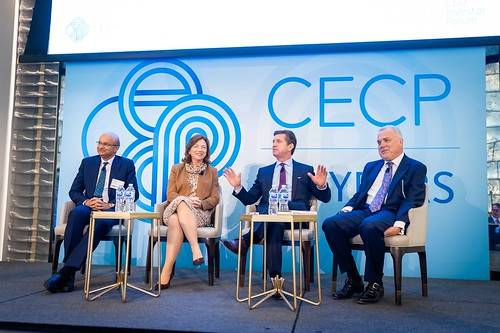 Omar Ishrak, Barbara Humpton, Alex Gorsky, and Mark Bertolini - healthcare panel | by CECP Photos