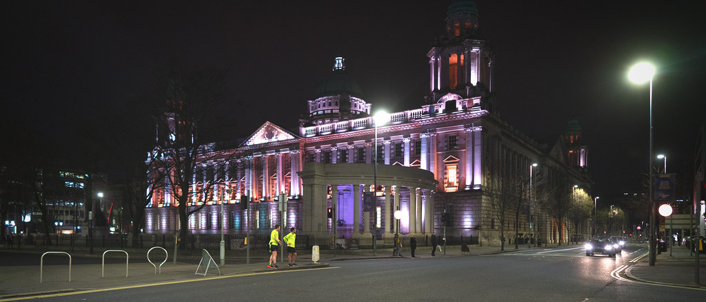 BELFAST CITY HALL AT NIGHT 001