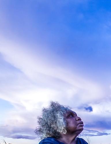 Agnes Armstrong of Waringarri Aboriginal Arts. Photograph by Sarah Duguid.