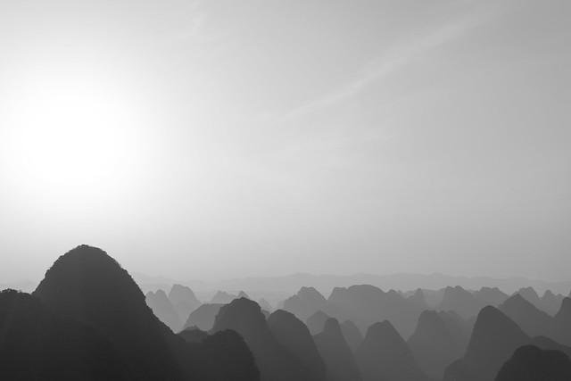 Yangshuo Tower sunset