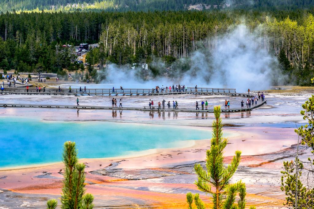 2017 USA Mountain States - Yellowstone NP, WY / Grand Prismatic Spring