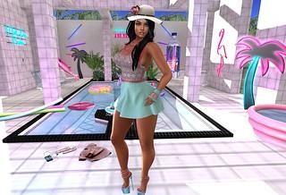 Masoom - Hartely Dress - Event - Spring Flair & Masoom - Hartely gloves - Event - The Season's Story