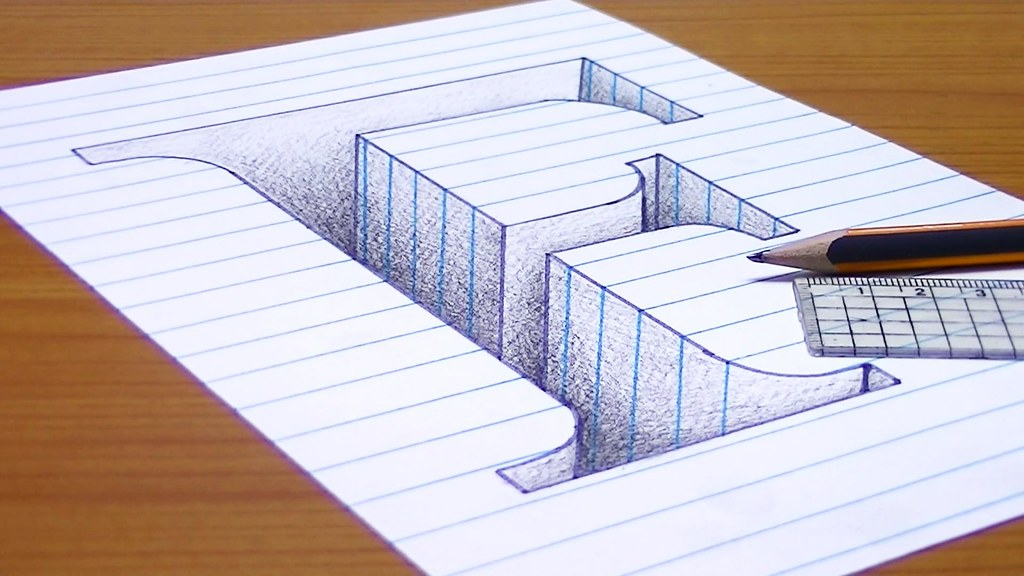 How-to-Draw-3D-Letter-F-3D-Trick-Art | متعة الرسم | Flickr