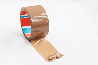 Brown tape on white background | by wuestenigel