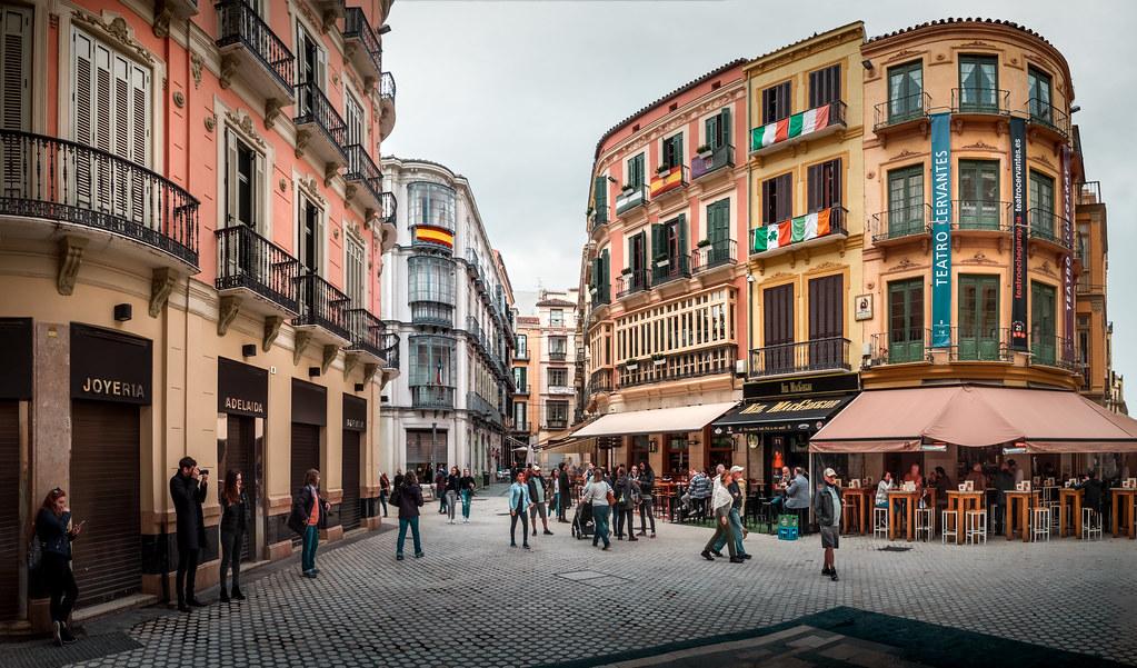 Calle Granada, Malaga. | Three image stitch / pano | Flickr