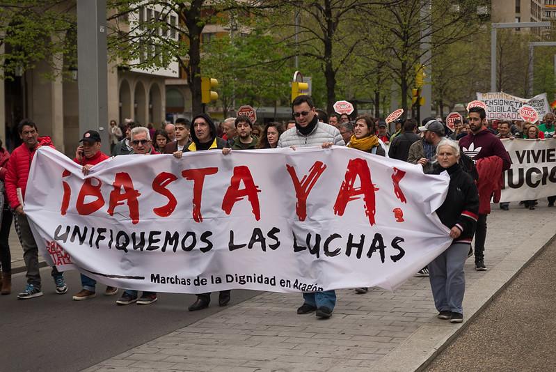 Manifestación Marchas por la Dignidad Zaragoza 7 de abril 2018