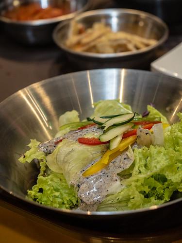 Salad banchan / Korean side dish at Apple Samgyupsal | by huislaw
