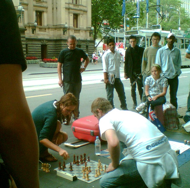 Chess in Swanston Street, January 2009
