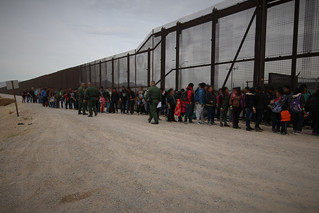 El Paso Border Patrol agents intercept a large group of migrants | by CBP Photography