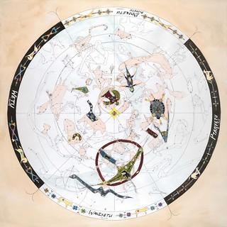 "(D) Lakota Star Map 36""x36"""
