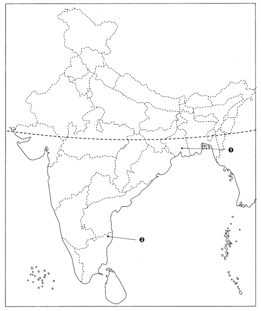 Class 10 History Map Work Chapter 3 Nationalism in India Q6