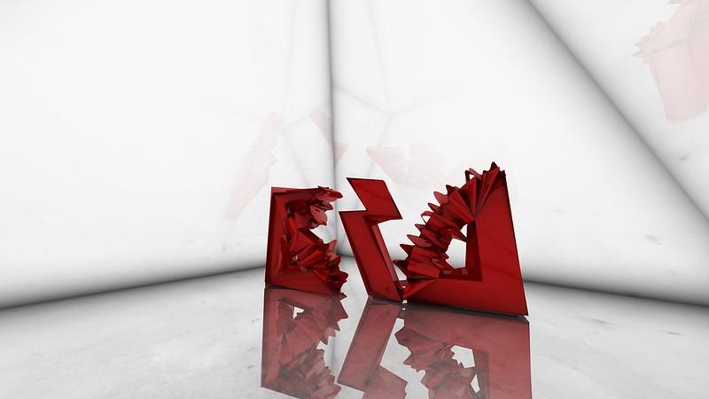 Обои форма, буквы, логотип, красный, белый картинки на рабочий стол, фото скачать бесплатно
