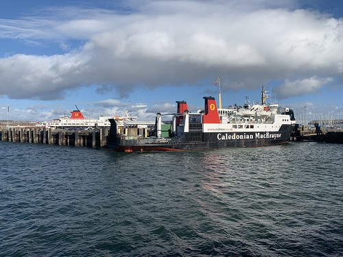 Hebridean Isles at Ardrossan standing in for the Caledonian Isles following the latter's disagreement with Brodick pier!   by md93