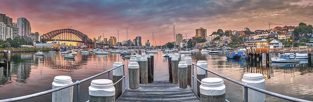 Lavender Bay Pano - Sydney - NSW