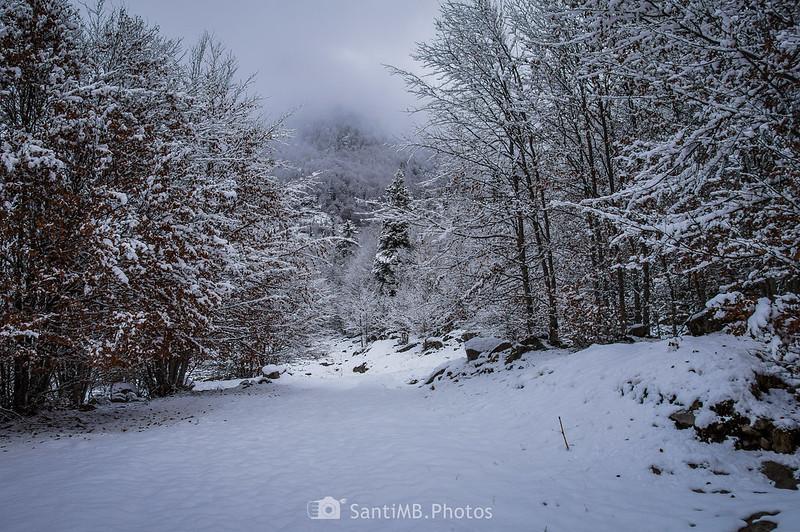 GR-11 nevado en Conangles