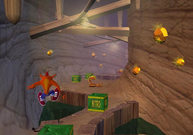 No talking while playing Crash Bandicoot in the desert