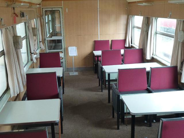 Train dining car