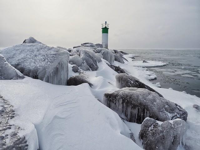 Ice locked Prince Edward County