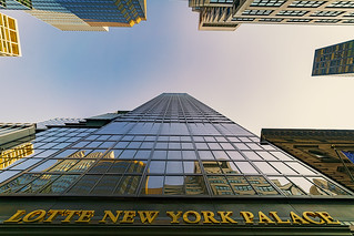 Stunning Sunset Lotte New York Palace (our hotel) Looking Way Up Madison Ave. E 51 St. (4680) Dave's 60th Birthday NYC 7-13-2018. | by davidcherniak