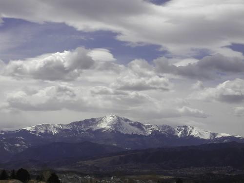 pikes peak snow mountains landscapes scenics front range